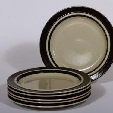 Arabia Ruija lautaset, käsin maalattu, 6 kpl, suunnittelija Raija Uosikkinen, käsin maalattu
