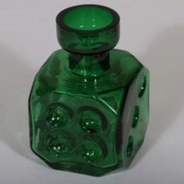 Riihimäen lasi Arpa on heitetty 1728 koristepullo, vihreä, suunnittelija Erkkitapio Siiroinen,