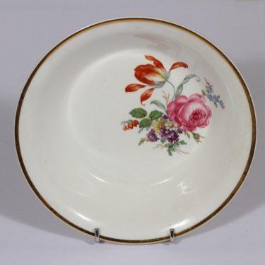 Arabia Kulta-aika lautanen, syvä, suunnittelija , syvä, serikuva, kukka-aihe