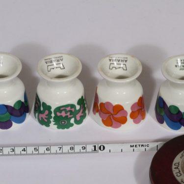 Arabia eri koristeita munakupit, 4 kpl, suunnittelija , serikuva, retro kuva 2