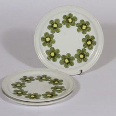 Arabia Primavera lautaset, 3 kpl, suunnittelija , pieni, serikuva, kukka-aihe