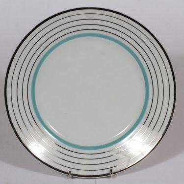 Arabia Raitahopea platter, stripe decoration, art deco
