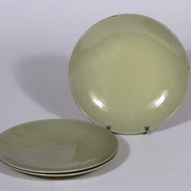Arabia MG lautaset, keltainen, 3 kpl, suunnittelija Michael Schilkin, pieni