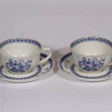 Arabia Suomen kukka teekupit, sininen, 2 kpl, suunnittelija , kuparipainokoriste