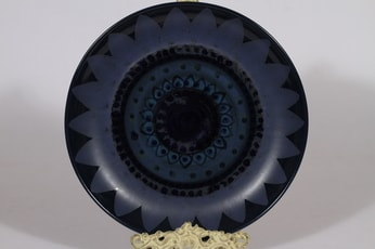 Arabia Kuutamo vati, käsinmaalattu, suunnittelija Hilkka-Liisa Ahola, käsinmaalattu, suuri, signeerattu