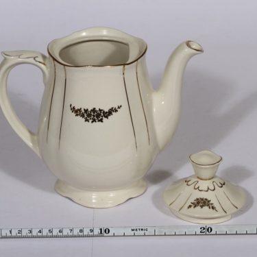 Arabia Irja kahvikaadin, 1 l, suunnittelija , 1 l, painokoriste, kullattu kuva 2