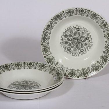 Arabia Sampo lautaset, syvä, 4 kpl, suunnittelija , syvä, serikuva