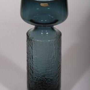 Riihimäen lasi Safari maljakko, siniharmaa, suunnittelija Tamara Aladin, suuri