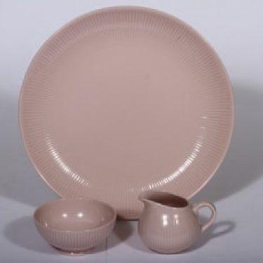 Arabia Sointu vati, vaaleanpunainen, suunnittelija , sokerikko ja kermakko
