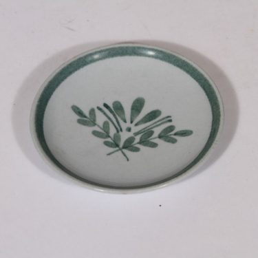 Arabia Green Thistle koristelautanen, vihreä, suunnittelija , pieni, käsinmaalattu