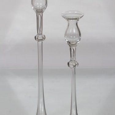 Kumela 351 kynttilänjalat, kirkas, 2 kpl, suunnittelija Sirkku Kumela-Lehtonen, suuri