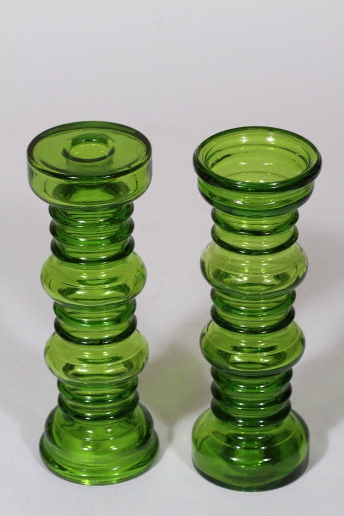 Riihimäen lasi Carmen kääntömaljakot, vihreä, 3 kpl, suunnittelija Tamara Aladin,
