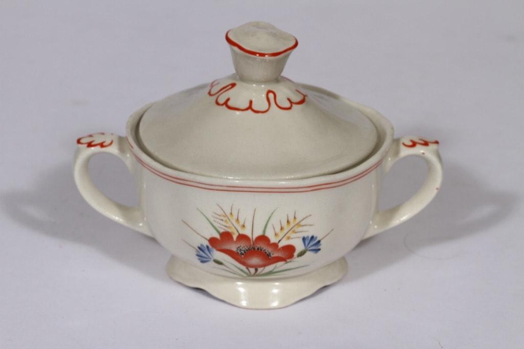 Arabia Kesä sokerikko, käsinmaalattu, suunnittelija , käsinmaalattu, kukka-aihe