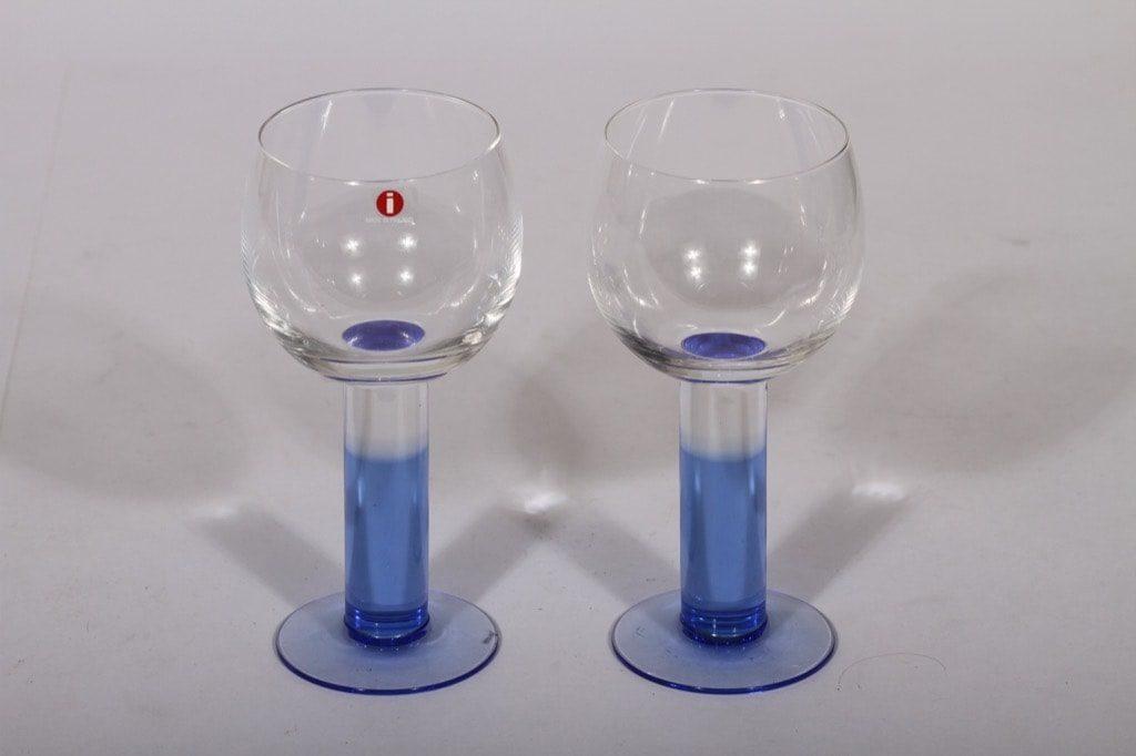 Nuutajärvi lasit, 20 cl, 2 kpl, suunnittelija Kerttu Nurminen, 20 cl