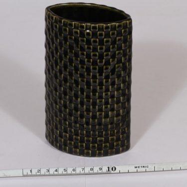 Arabia Harlekiini maljakko, vihreä, suunnittelija Kaarina Aho,  kuva 2