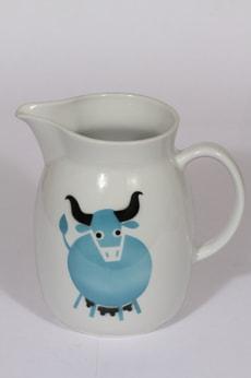 Arabia Heluna kaadin, 2 l, suunnittelija , 2 l, suuri, puhalluskoriste, lehmäaihe