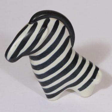 Arabia eläinfiguuri, seepra, suunnittelija Taisto Kaasinen, seepra, käsinmaalattu