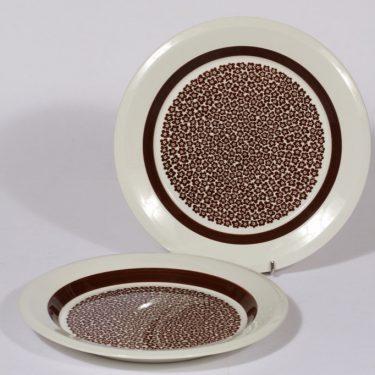 Arabia Faenza lautaset, matala, 2 kpl, suunnittelija Inkeri Seppälä, matala, serikuva