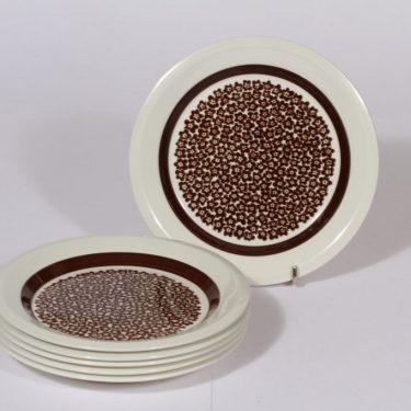 Arabia Faenza leivoslautaset, 6 kpl, suunnittelija Inkeri Seppälä, 6 kpl, serikuva