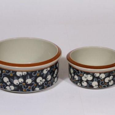 Arabia Taika kulhot, k 2 kpl, 2 kpl, suunnittelija Inkeri Seppälä, k 2 kpl, erikoiskoriste, eri kokoja