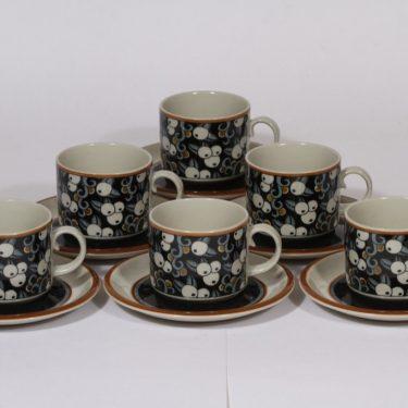 Arabia Taika teekupit, 25 cl, 6 kpl, suunnittelija Inkeri Seppälä, 25 cl, erikoiskoriste