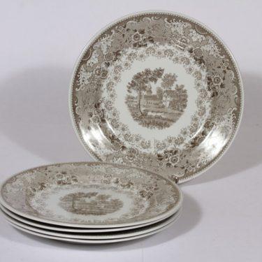 Arabia Kent lautaset, matala, 5 kpl, suunnittelija , matala, kuparipainokoriste
