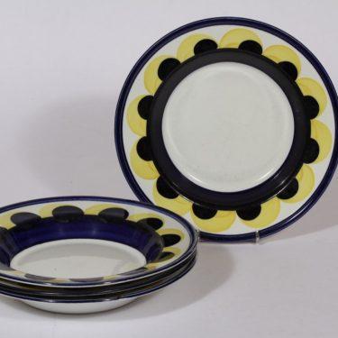 Arabia Paju lautaset, syvä, 4 kpl, suunnittelija , syvä, käsinmaalattu, signeerattu, retro