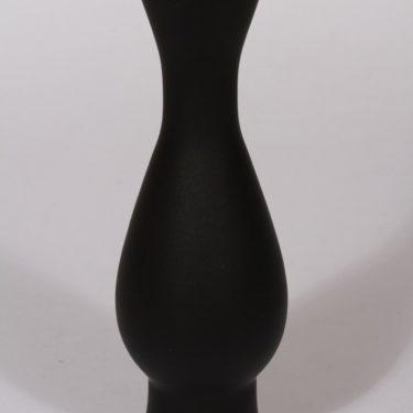 Riihimäen lasi maljakko, musta, suunnittelija Aimo Okkolin,