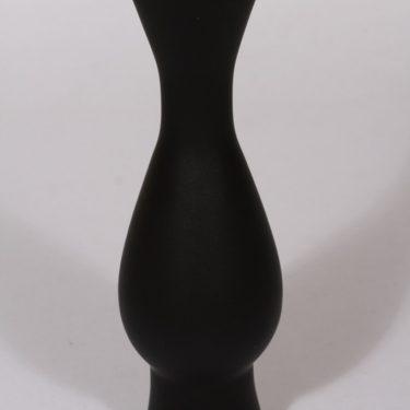 Riihimäen lasi maljakko, musta, suunnittelija Aimo Okkolin,  kuva 2