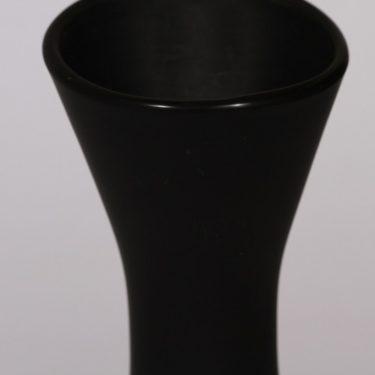 Riihimäen lasi maljakko, musta, suunnittelija Aimo Okkolin,  kuva 3