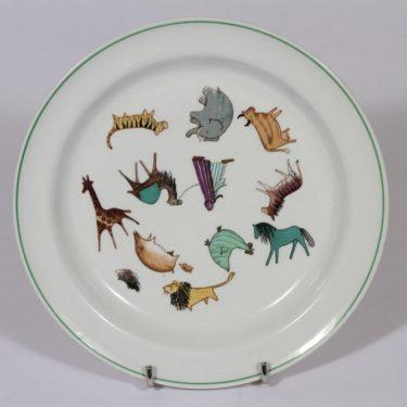 Arabia Zoo lasten lautanen, suunnittelija , siirtokuva, eläinaihe
