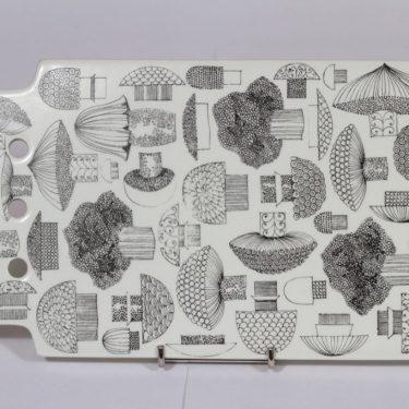 Arabia Tatti talouslevy, serikuva, suunnittelija , serikuva, sieniaihe