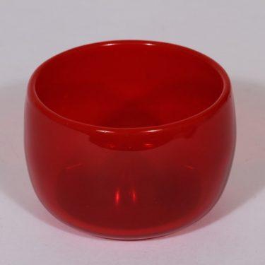 Nuutajärvi Rosso taide-esine, punainen, suunnittelija Kaj Franck, pieni, signeerattu