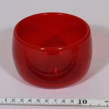 Nuutajärvi Rosso taide-esine, punainen, suunnittelija Kaj Franck, pieni, signeerattu kuva 2