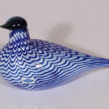 Nuutajärvi koristelintu, Lintu sininen, suunnittelija Oiva Toikka, Lintu sininen, filigraani, signeerattu