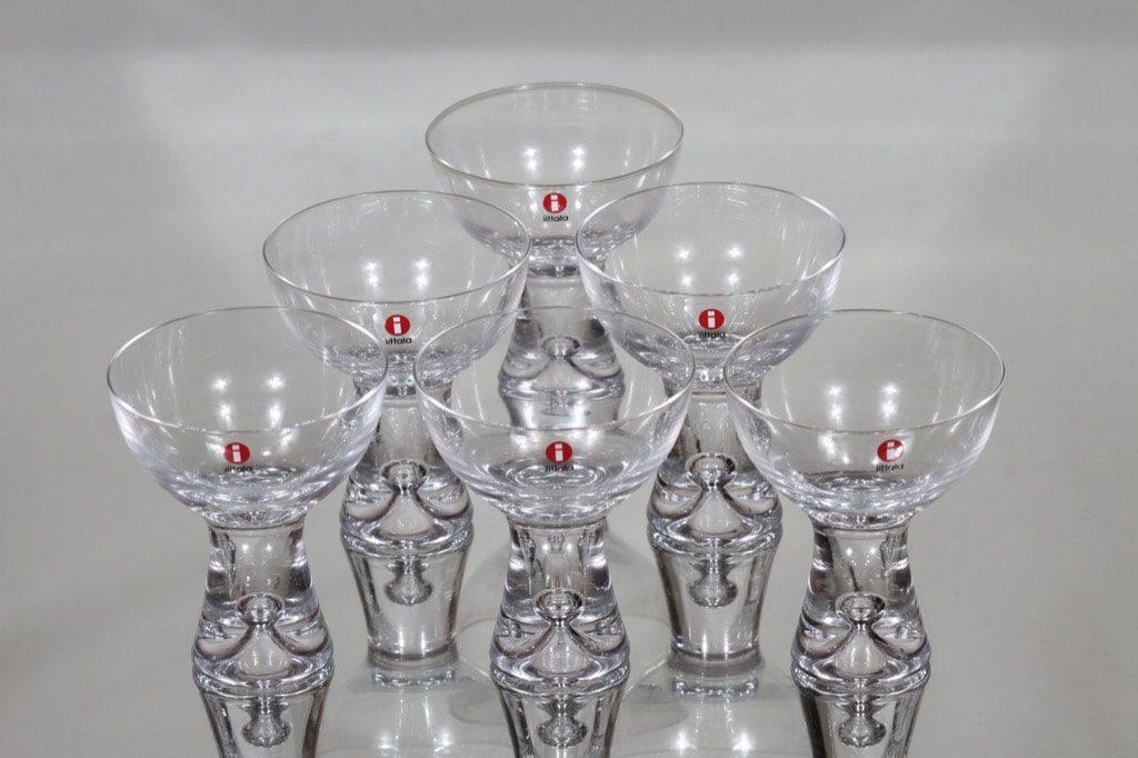 Iittala Tapio cocktail-lasit, 14 cl, 6 kpl, suunnittelija Tapio Wirkkala, 14 cl