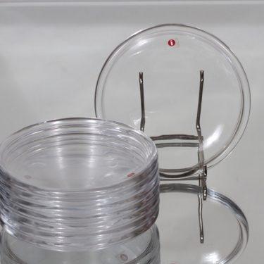 Iittala Luna lautaset, kirkas, 8 kpl, suunnittelija Kaj Franck, pieni