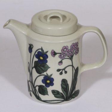 Arabia Flora kahvikaadin, 1 l, suunnittelija Esteri Tomula, 1 l, serikuva, Kukka-aihe