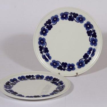 Arabia Aamu lautaset, matala, 2 kpl, suunnittelija , matala, Kukka-aihe, retro