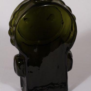 Riihimäen lasi Ahkeraliisa maljakko, oliivinvihreä, suunnittelija Helena Tynell, suuri kuva 2