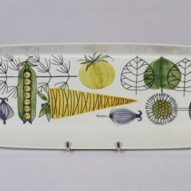 Arabia Vegeta vati, suunnittelija Esteri Tomula, käsinmaalattu, vihannesaihe, retro
