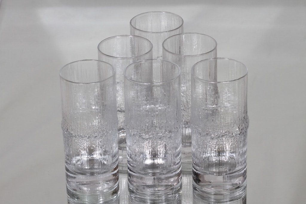 Iittala Niva lasit, 33 cl, 6 kpl, suunnittelija Tapio Wirkkala, 33 cl