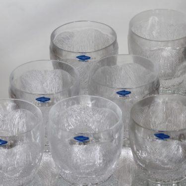 Nuutajärvi Pioni lasit, 20 cl, 7 kpl, suunnittelija Oiva Toikka, 20 cl