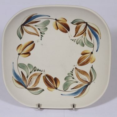 Arabia ARA vati, suunnittelija , käsinmaalattu, mattalasite, kukka-aihe