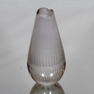 Riihimäen lasi Vuokko maljakko, valkoinen, suunnittelija Nanny Still, filigraani