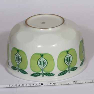 Arabia Pomona kulho, suunnittelija , suuri, serikuva, Omena-aihe kuva 2