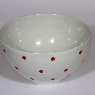 Arabia Ping Pong kulho, suunnittelija , suuri, serikuva, retro