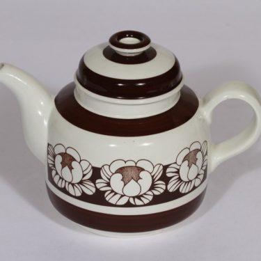Arabia Katrilli teekaadin, ruskea, suunnittelija Esteri Tomula, serikuva