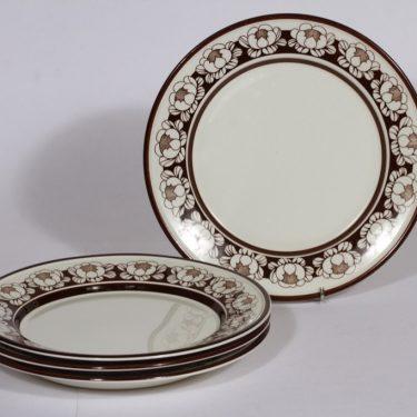 Arabia Katrilli lautaset, matala, 4 kpl, suunnittelija Esteri Tomula, matala, serikuva
