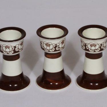 Arabia Katrilli munakupit, ruskea, 3 kpl, suunnittelija Esteri Tomula, serikuva